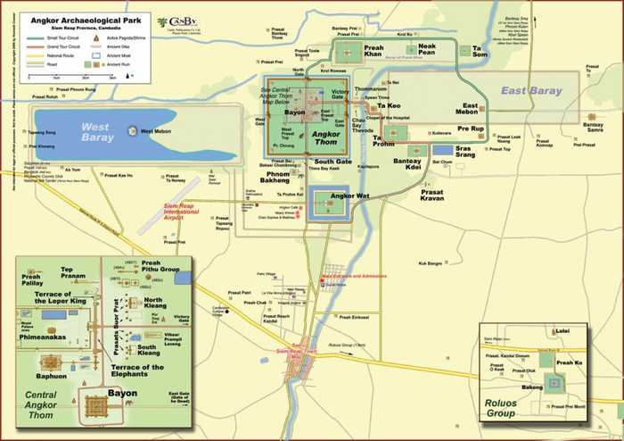 a map of angkor wat temples