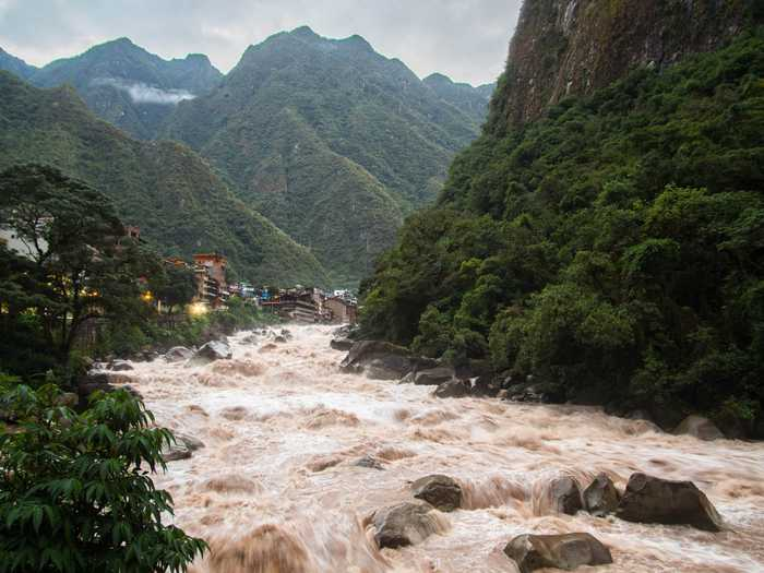 Urubamba River outside of Aguas Calientes