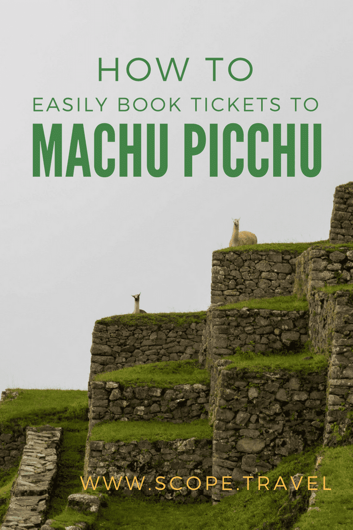 pinterest booking tickets to machu picchu